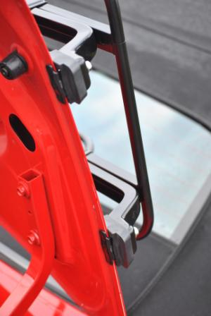 close up of luggage rack fixing for porsche boxster