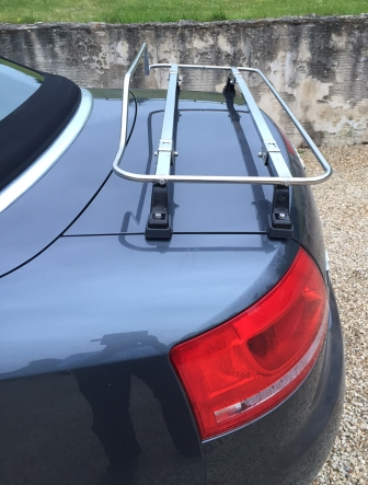 audi a4 convertible stainless steel luggage rack side view