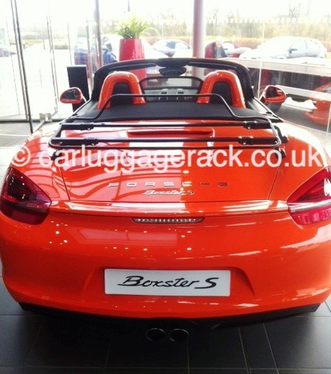 Porsche Boxster Luggage boot Rack black rack on 981