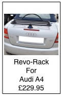 revo-rack black luggage rack for audi a4 cabriolet