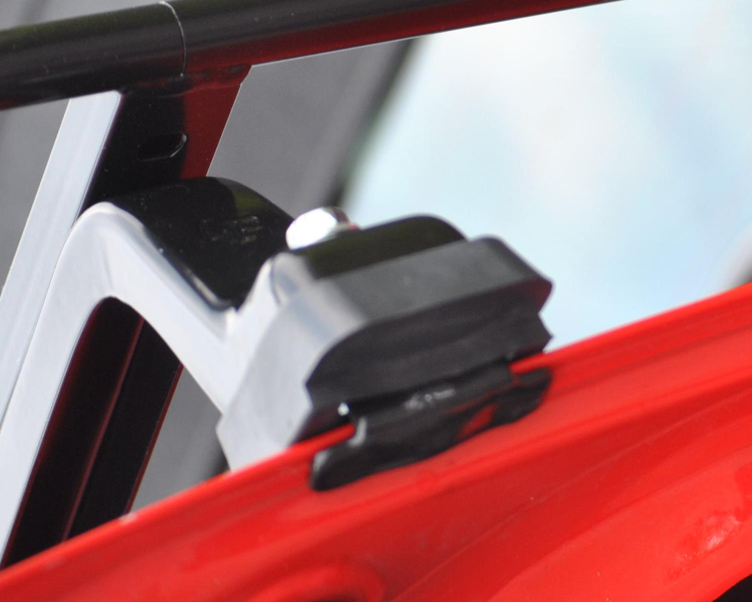 close up detail for audi a4 cabriolet luggage rack